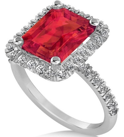 Ruby Ring with White Gold