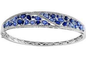 Sapphire-White Gold Bangle Design