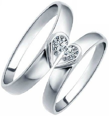Sharing Heart Couple Promise Ring