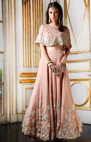 Shawl Blouse Lehenga Design