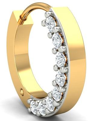 Side Diamond Nose Ring
