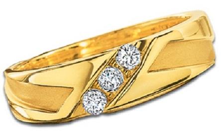 Side Line Diamond Wedding Ring