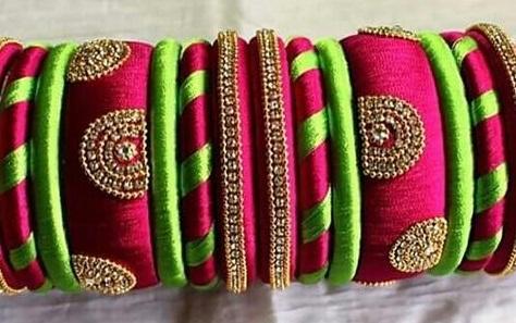 Silk Thread Bridal Bangles