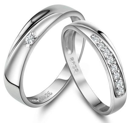 Silver Couple Wedding Rings