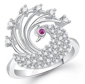 Silver Diamond Ring for Women
