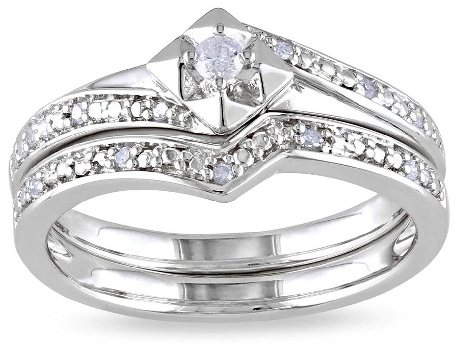 Silver Diamond Wedding Ring