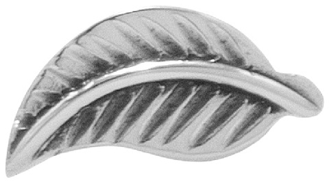Silver Nose Ring In Leaf Pattern
