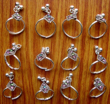 Silver Toe Rings with Sonorous Bells
