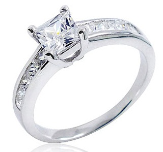 Silver Zirconia Engagement Ring