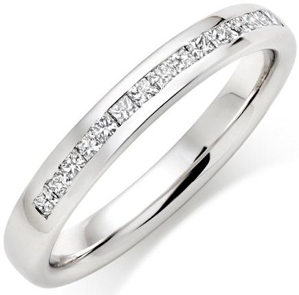 Simple Crystals Platinum Diamond Ring
