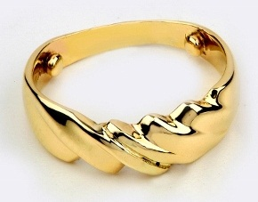 Simple Gold Rings without Stones