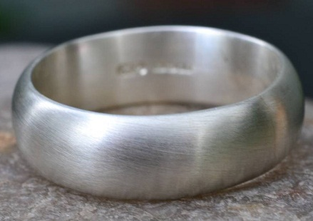 Simple Handmade Silver Wedding Ring