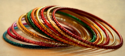 Simple Metal Colour Bangles