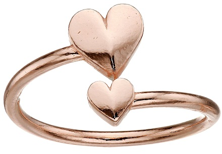 Simple Rose Gold Heart Rings