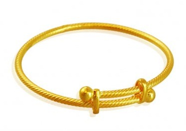 Single Stylish Gold Bangle