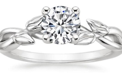 Solitaire Flower Shape Engagement Rings