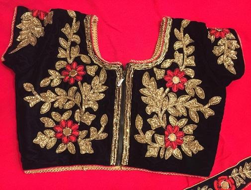 Special Black Velvet Blouse