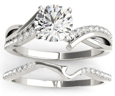 Split Shank Bridal Diamond Ring Set