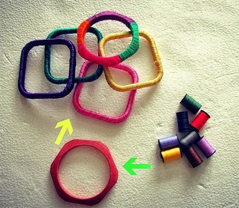 Square or Hexagon thread bangles