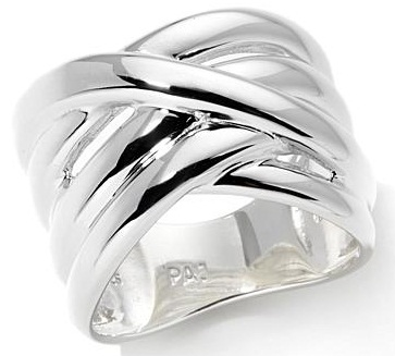 Sterling Silver Criss- Cross Rings for Girls