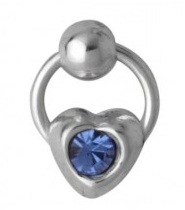 Sterling Silver Nose Ring with Blue Stone