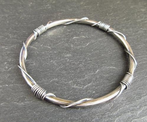 Sterling Silver Single Bangle