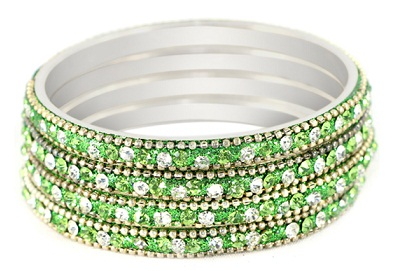 Stylish Green Bangles for Girls