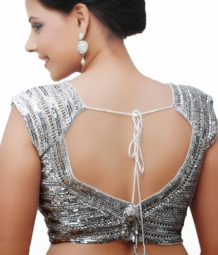 7ae4120b 20 Stylish Silver Blouse Designs That Will Mesmerise You | Styles At ...