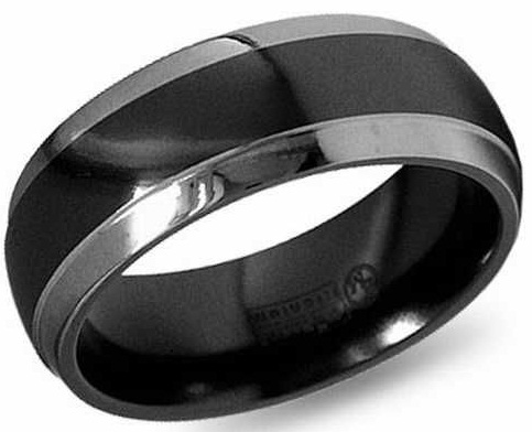 The Black Platinum Wedding Ring