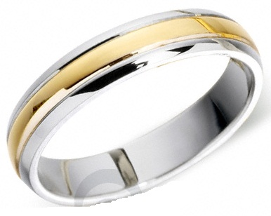 The Golden Plated Platinum Ring