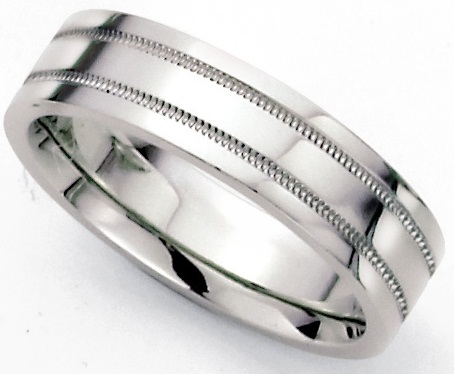 The Scribbled Platinum Wedding Ring