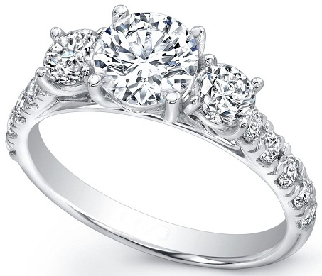 Three Stone Ring Design for Engagement