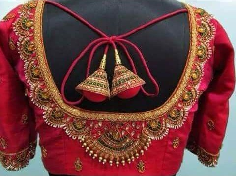 Toran Maggam Work Blouse Design