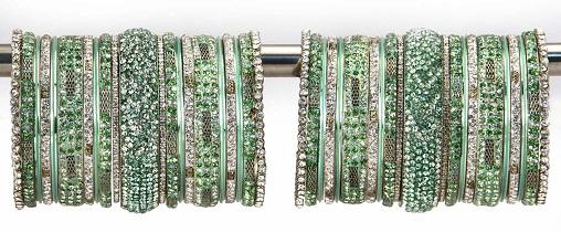 Traditional Bridal Green Bangles Set