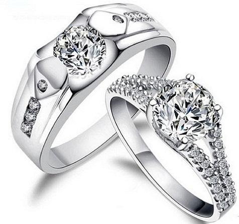 Traditional Couple Diamond Rings