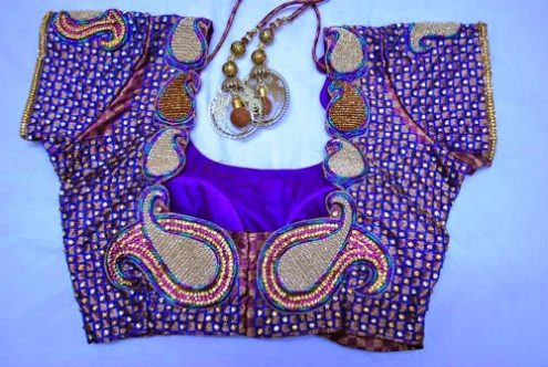 Traditional Mango Maggam Work Blouse Designs