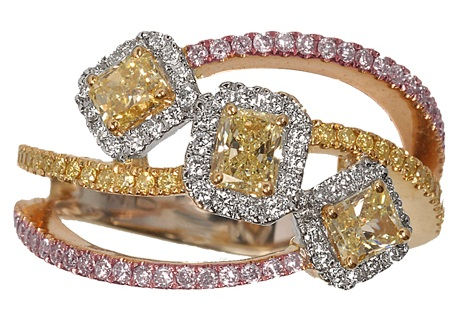 Trinity Yellow Diamond Ring Design