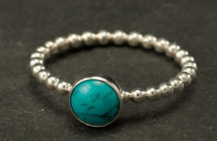 Turquoise Stone Silver Ring