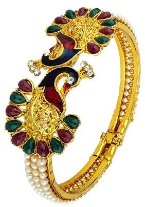 Twin Peacock Single Bangle Design