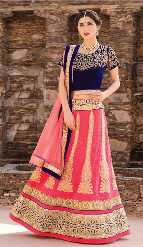 Embroidered Art Silk Lehenga Blouse Designs