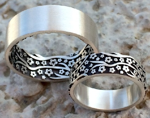 Wedding Band Ring Set