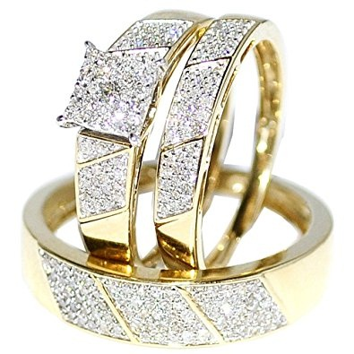 Wedding Ring Trio Set