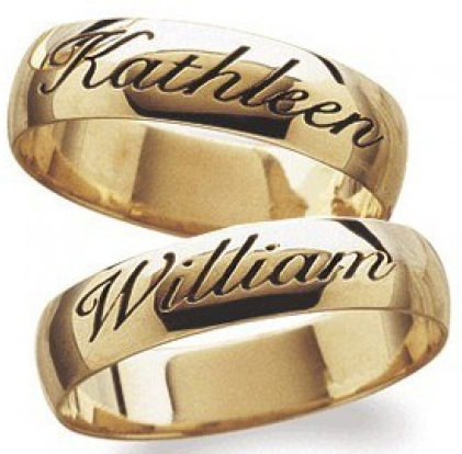 Wedding Rings with Names