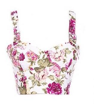 Sleeveless Women's Floral White Blouse Design