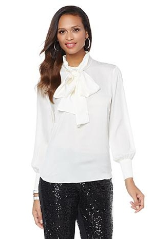 White Bowed Blouses