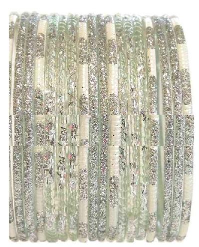 White Glitters Bangles