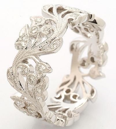 White Gold Designer Ring