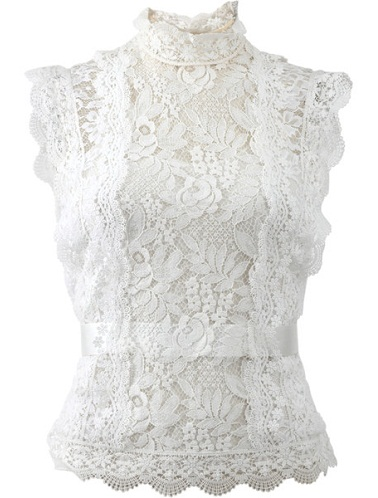 White Laced Blouses
