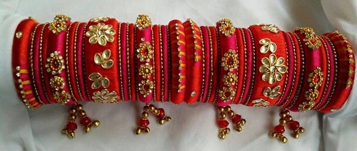 Zardosi Work Handmade Bangles
