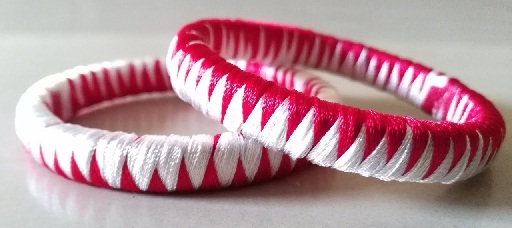 ZigZag weaving thread bangle